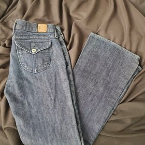 Lucky Brand Dungarees flare leg jeans sz.6/28